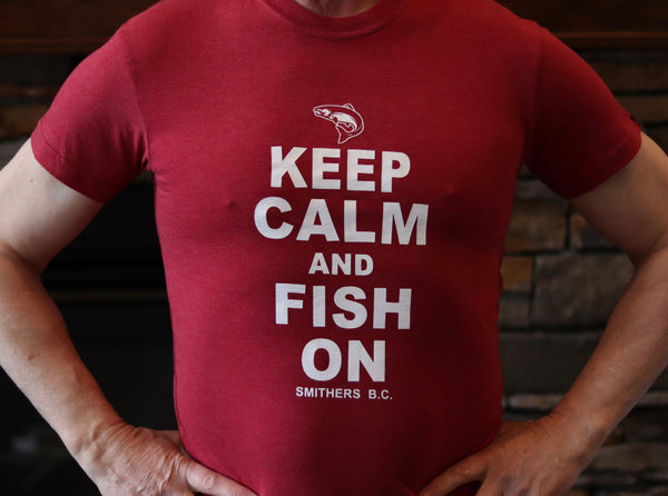 Keep Calm and Fish On - Mens T-Shirt