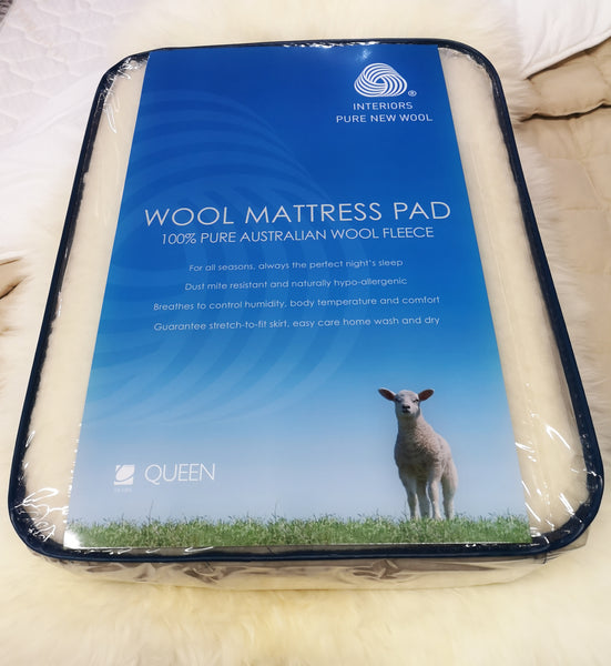 Century Home- 100% Wool Mattress Pad