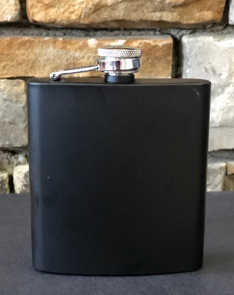 Black Stainless Steel - Flask