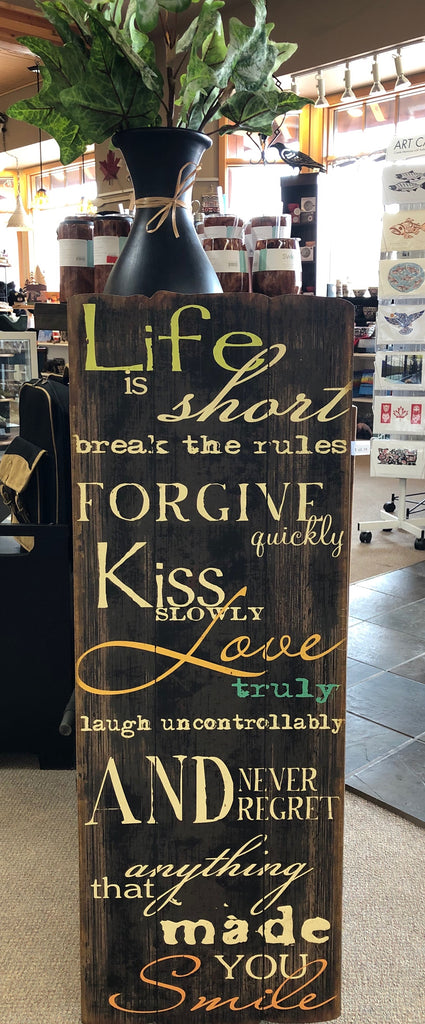 Life is short, break the rules ... Sign