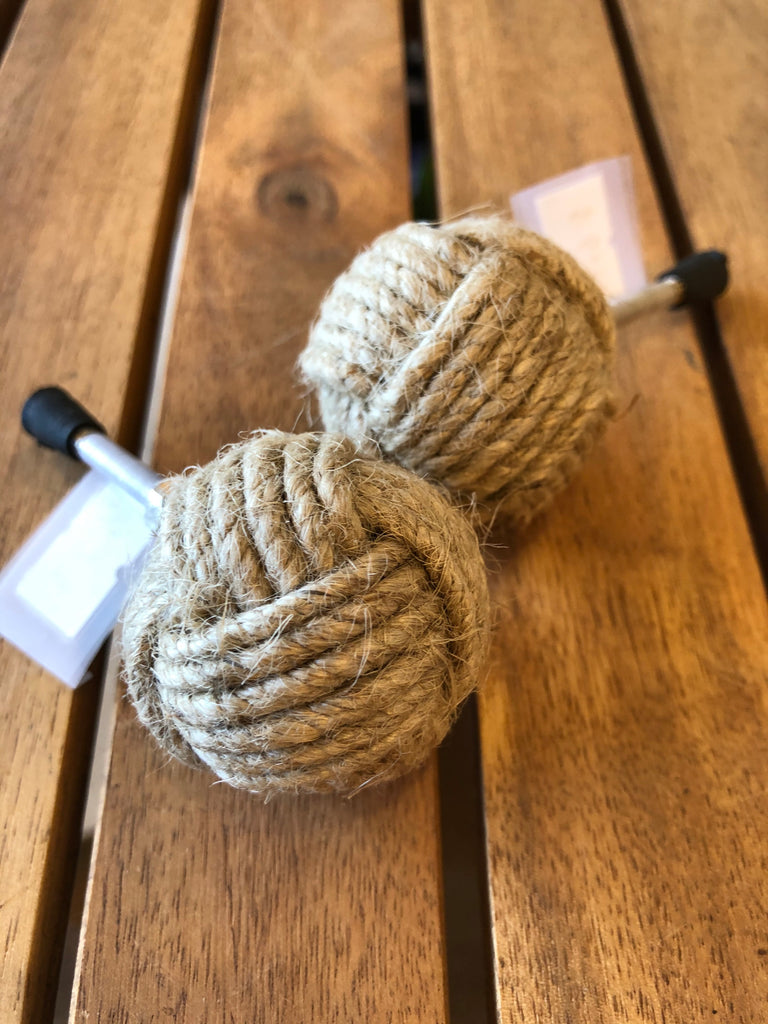 Pull Knob - Knotted Twine