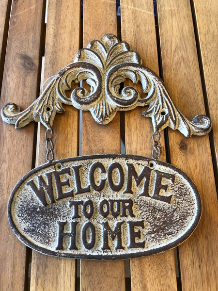 Cast Iron Welcome to Our Home