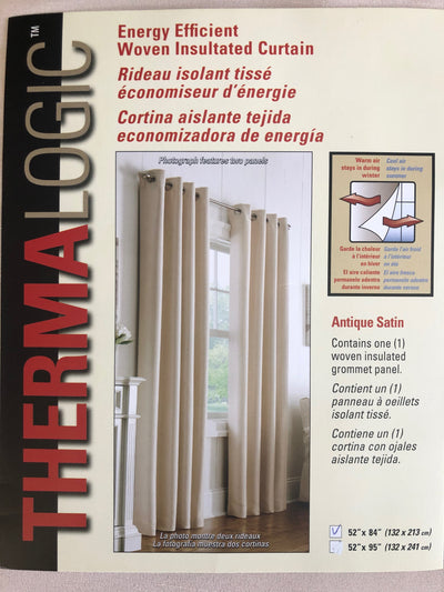 Thermalogic-Antique Satin-Energy Eff. Curtain Panel