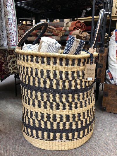 Blue Moma Bolga Baskets - Laundry Hamper