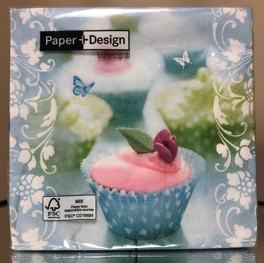 Paper + Design- Sweet Cupcake Napkins-20 Pack