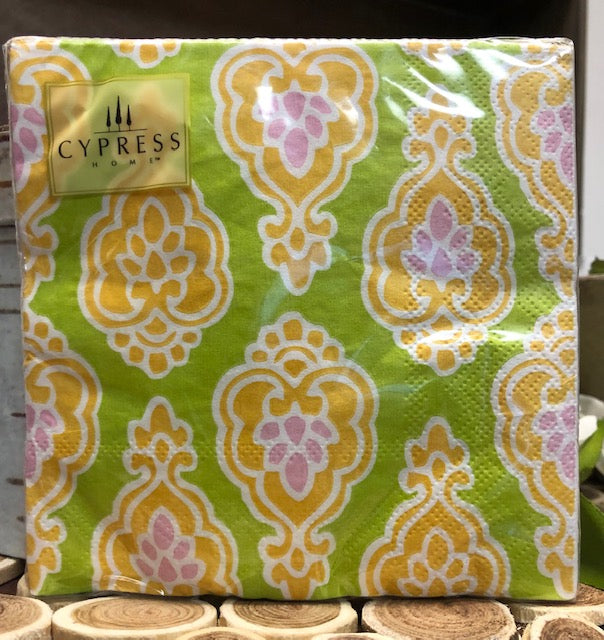 "Cypress Home- ""Paisley Medallion"" Napkins-20 Pack"