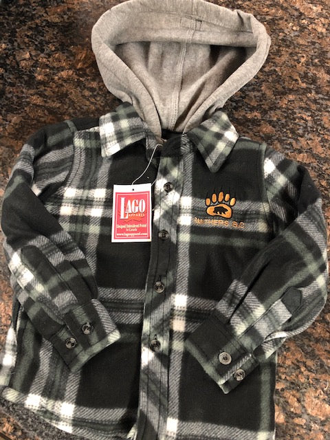 Zip Up Jacket- Youths, Fleece Lined Plaid (Smithers Logo)