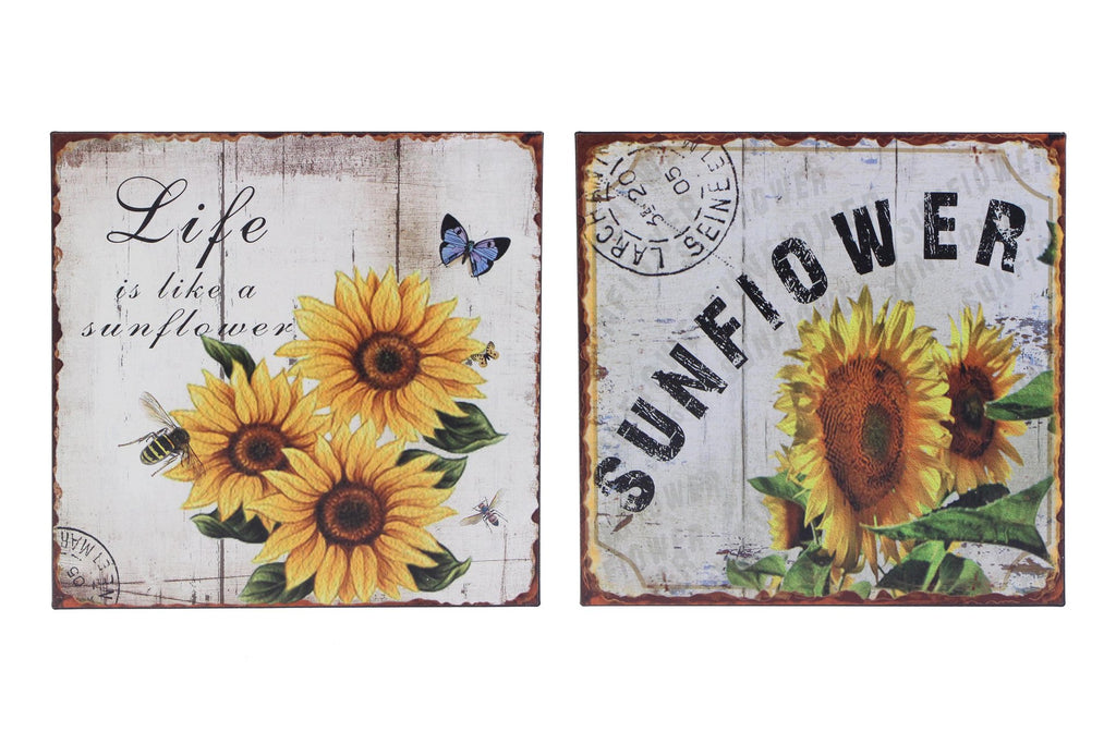 Splash-Metal Signs, Sunflowers