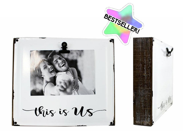 Splash- Wooden Block & Metal Clip Picture Frame
