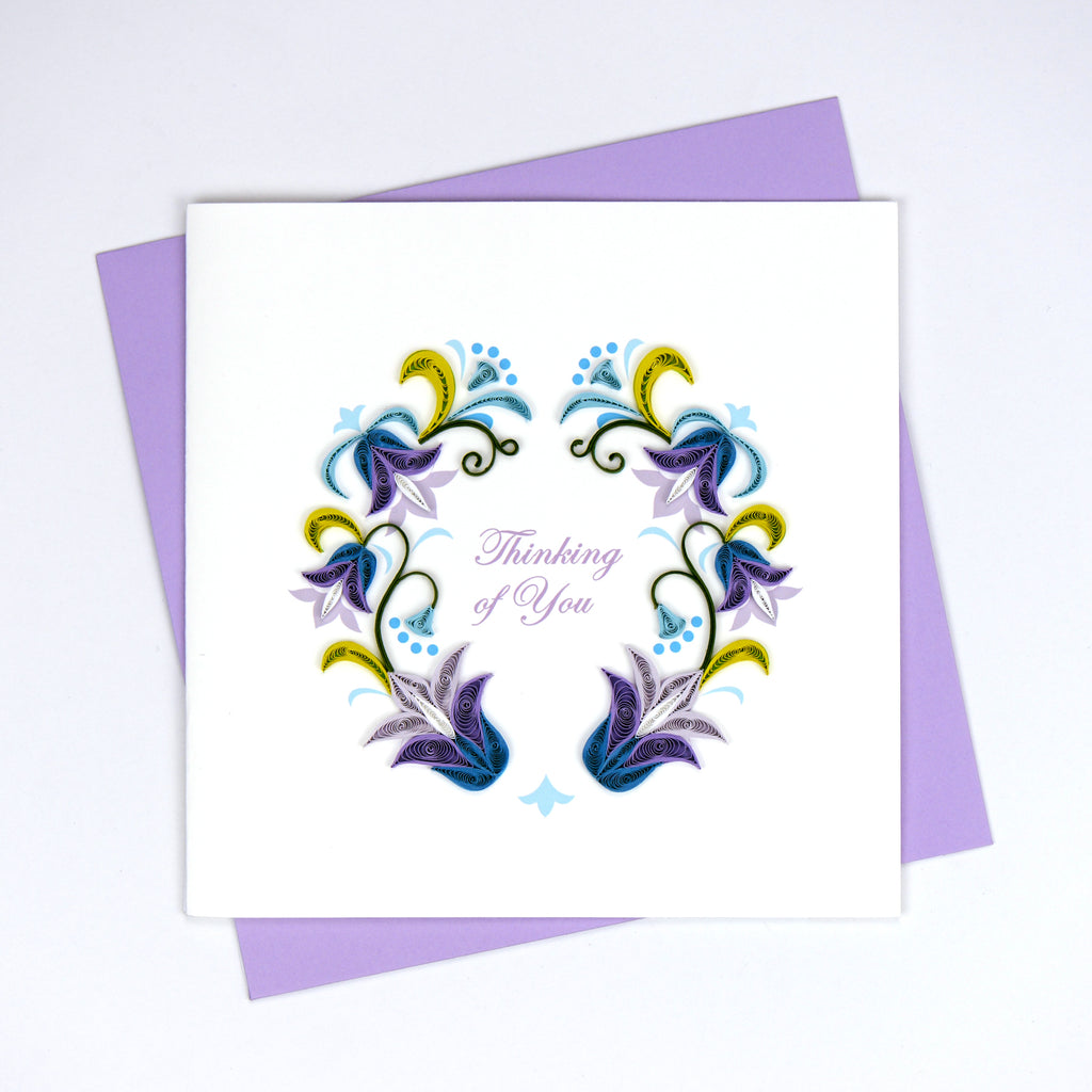 Quilling Card- Hand-Crafted Cards, Thinking Of U