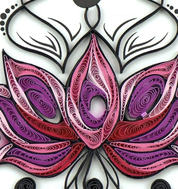 Quilling Card- Hand Crafted, Namaste