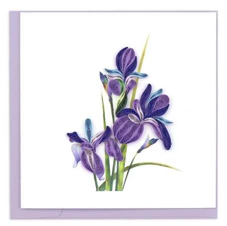 Quilling Card- Hand-Crafted Cards, Iris