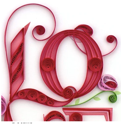 Quilling Card- Hand Crafted, Love