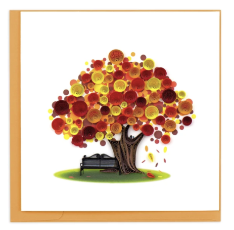 Quilling Card- Hand Crafted, Autumn Tree