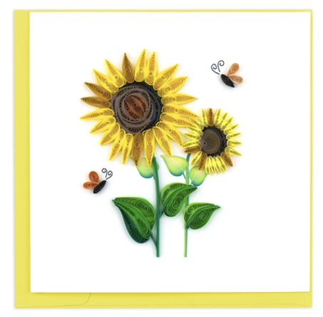 Quilling Card- Hand Crafted, Sunflower