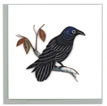 Quilling Card- Hand Crafted, Raven