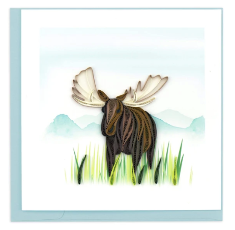 Quilling Card- Hand-Crafted Cards, Moose