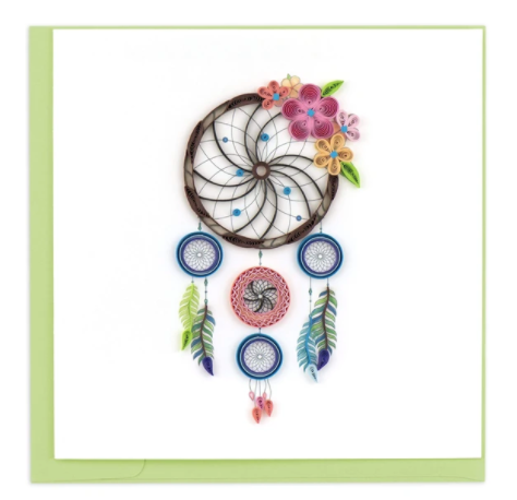 Quilling Card- Hand-Crafted Cards, Dreamcatcher