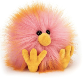 Jellycat- Yellow & Pink Crazy Chick
