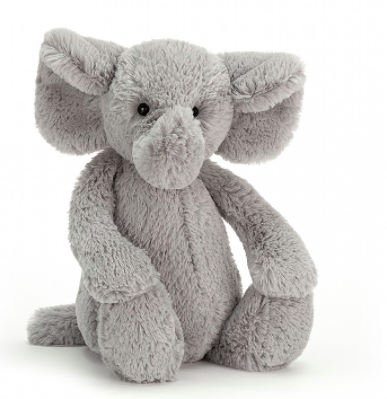 Jellycat- Bashful Grey Elephant (Large)