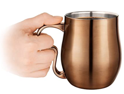 Final Touch- Double Wall Curvy Cup-Copper