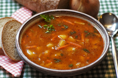 Simply Delish- Autumn Harvest Lentil Soup