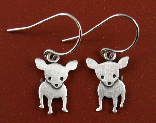 Stick Man - Chihuahua Earrings 50% Off