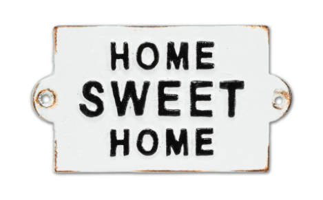 Home Sweet Home Plaque, Cast Iron