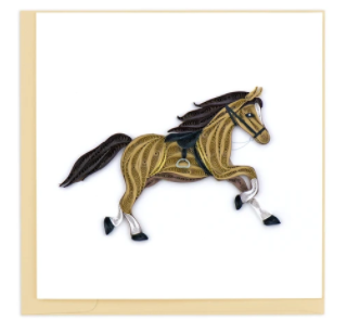 Quilling Card- Hand-Crafted Cards, Horse
