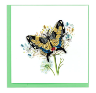 Quilling Card- Hand-Crafted Cards, Swallowtail Butterfly