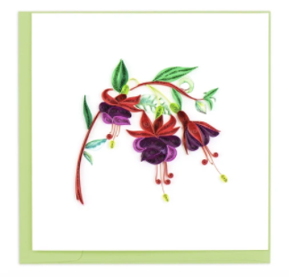 Quilling Card- Hand-Crafted Cards, Fuchsia
