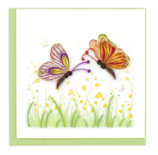 Quilling Card- Hand-Crafted Cards, Two Butterflies
