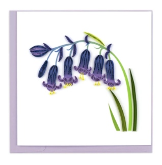 Quilling Card- Hand-Crafted Cards, Bluebells