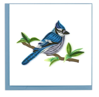 Quilling Card- Hand-Crafted Cards, Blue Jay