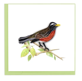 Quilling Card- Hand-Crafted Cards, Robin