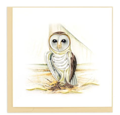 Quilling Card- Hand Crafted, Barn Owl