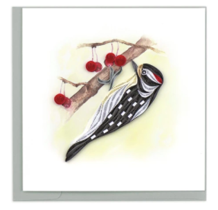Quilling Card- Hand Crafted, Woodpecker