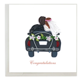 Quilling Card- Hand-Crafted Cards, Just Married