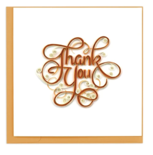 Quilling Card- Hand Crafted, Thank You