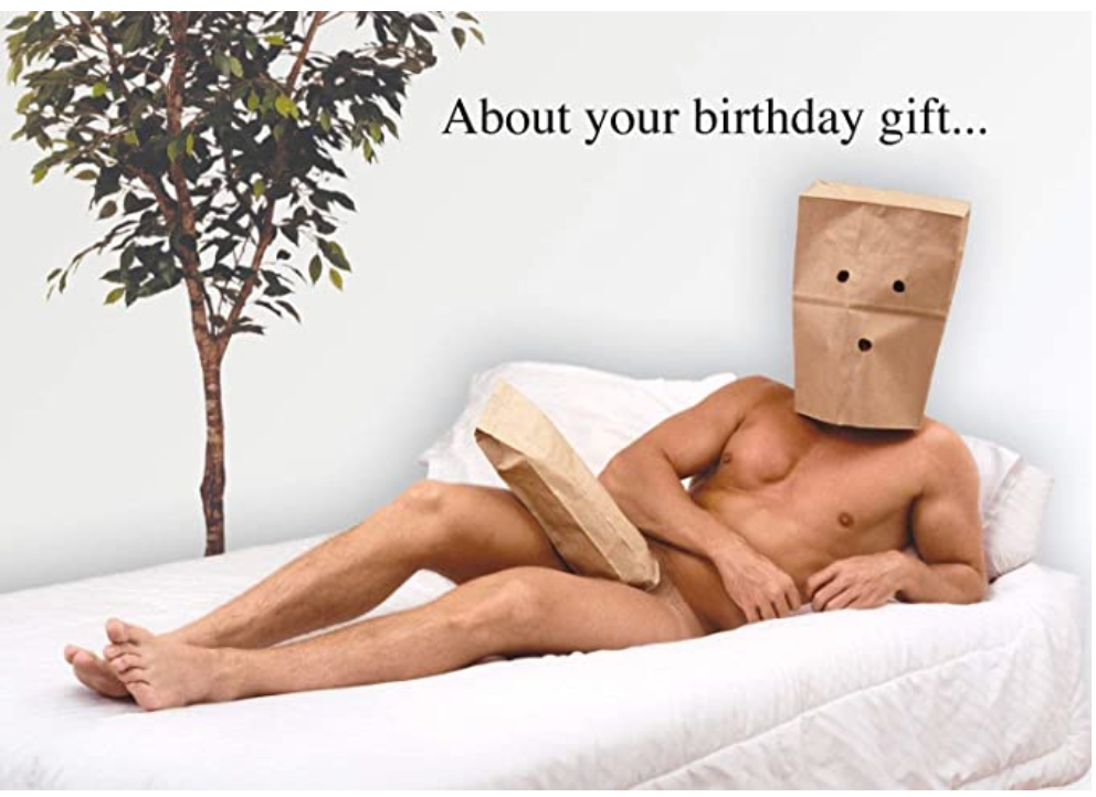 Card, About your birthday gift ....