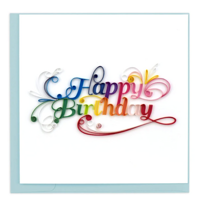 Quilling Card- Hand Crafted, Happy Birthday