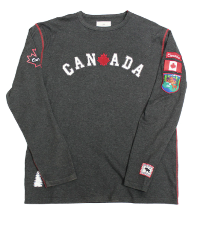 GGS Vintage Collection - Mens Rib Knit Canada Shirt