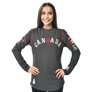 GGS Vintage Collection - Woman's Rib Knit Canada Shirt