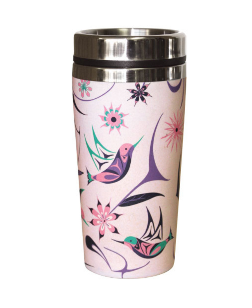 Travel Mug, Hummingbird-Nicole La Rock
