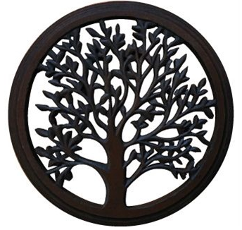 "Jafsons- Wooden Blooming Tree 12"" Wall Art (Sm)"