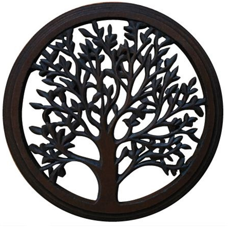 "Wooden Blooming Tree 18"" Wall Art"