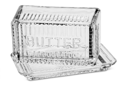 "Butter Dish, 7.5"" Covered Rectangular"
