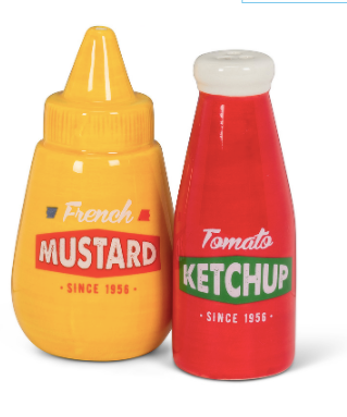 Salt & Pepper Shakers, Ketchup & Mustard