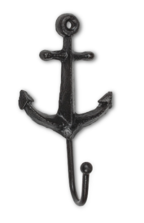 "Anchor Single Hook 5"", Cast Iron"