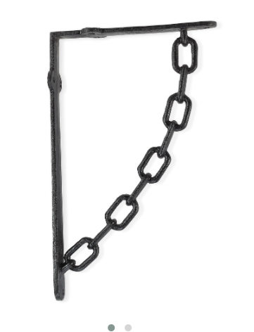 "Abbott- Large Chain Bracket 7"" Black"